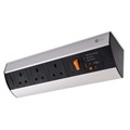 Under Shelf/Desk Top Power Station - Dual USB Charger + 3 BS Socket