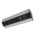 Under Shelf/Desk Top Power Station - Dual USB Charger + 3 UNI Socket
