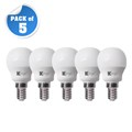 5.5W G45 LED Mini Globe Lamp E14 Day Light (Pack of 5)