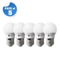 5.5W G45 LED Mini Globe Lamp E27 Warm White (Pack of 5)