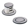 Mini Pop-up Dual USB Charger - Recessed