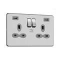 13A 2G Switched Socket with High Power Dual USB Charger (4A)