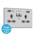 13A 2G Swicthed Socket with Dual USB Charger (4A - Type A + A Quick charge)
