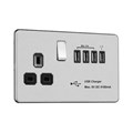 13A Switched Socket with USB Charger - MAX. 5.1A