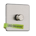 1G 2 Way Universal LED Dimmer Rotary Switch - Trailing edge