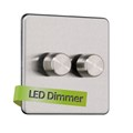 2G 2 Way Universal LED Dimmer Rotary Switch - Trailing edge