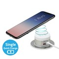 Desktop Wireless Charger with 4A Dual USB Charger (Type A + Type A Single Quick charge)